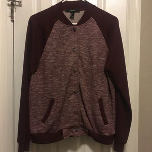 Forever 21 Maroon Jacket Size L